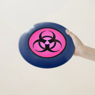 ピンクの生物学的災害[有害物質]の記号 Wham-Oフリスビー