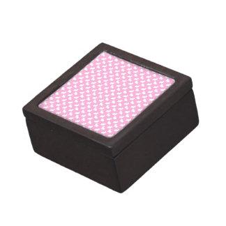 ピンクの白いイースターのウサギ ギフトボックス