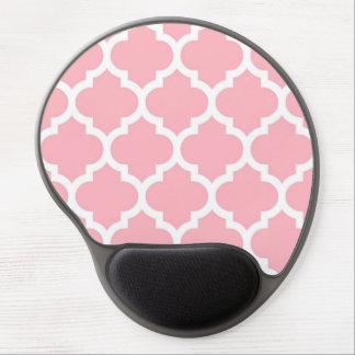 ピンクの白いモロッコのクローバーパターン#5 ジェルマウスパッド