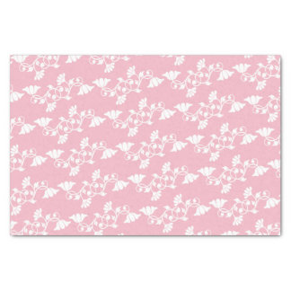 ピンクの白い花 薄葉紙