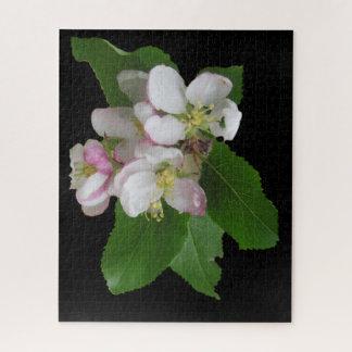 ピンクの白いAppleの花のパズル ジグソーパズル