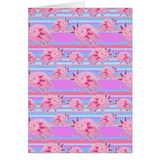 ピンクの白子のアホロートルパターン カード