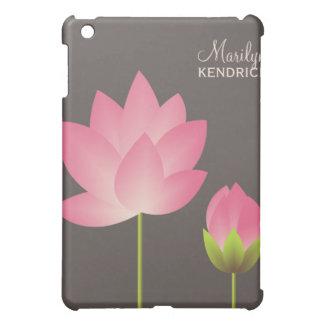 ピンクの白蓮教の花の花の名前をカスタムする iPad MINIケース