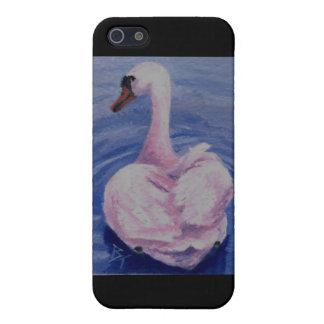 ピンクの白鳥のIphone 4ケース iPhone 5 カバー