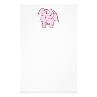 ピンクの眠い象。 漫画 便箋