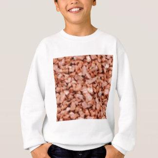 ピンクの石造りの斑点 スウェットシャツ