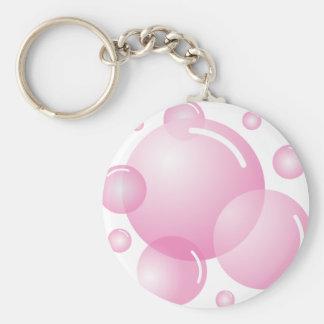 ピンクの石鹸の泡 キーホルダー
