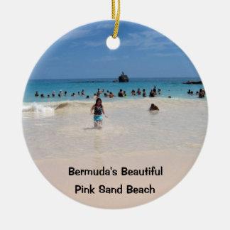 ピンクの砂のビーチ#3、美しいバミューダ島ピンクS… セラミックオーナメント