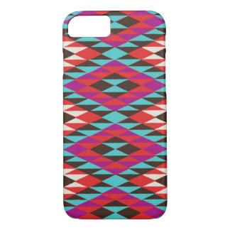 ピンクの砂漠のネイティブアメリカンパターンiPhone 7の場合 iPhone 8/7ケース