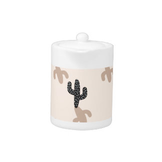 ピンクの砂漠の黒いサボテン