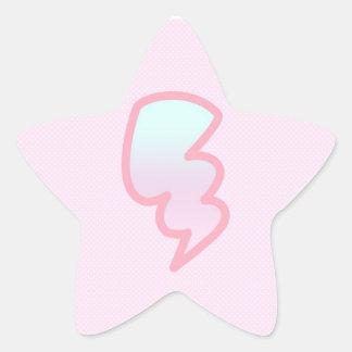 ピンクの稲妻の星のステッカー 星シール