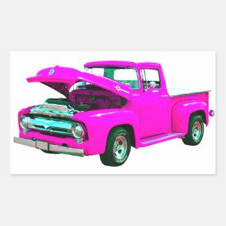 ピンクの積み込み 長方形シール