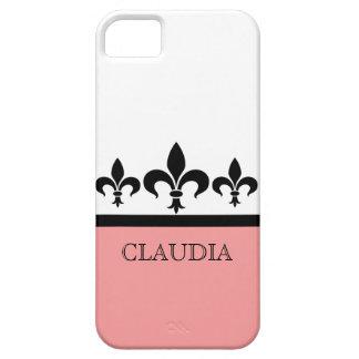 ピンクの粋な(紋章の)フラ・ダ・リBTのiPhone 5の場合 iPhone SE/5/5s ケース
