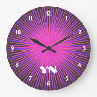 ピンクの精神の円のカスタム ラージ壁時計