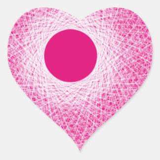 ピンクの精神の抽象美術 ハートシール