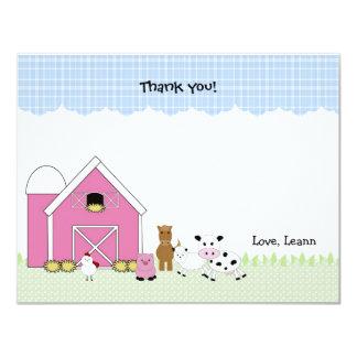 ピンクの納屋の農場の誕生日はノート感謝していしています カード