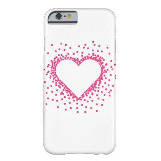 ピンクの紙吹雪のハートのiPhone6ケース Barely There iPhone 6 ケース