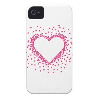 ピンクの紙吹雪のハート Case-Mate iPhone 4 ケース
