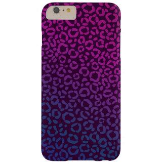ピンクの紫色および青のヒョウのプリントパターン BARELY THERE iPhone 6 PLUS ケース