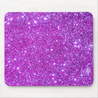 ピンクの紫色のきらめく魅力的なグリッターデザイナー マウスパッド