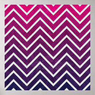 ピンクの紫色のシェブロン ポスター