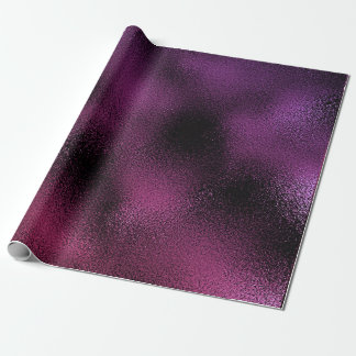 ピンクの紫色のプラム黒のガラス魅力的な光沢がある ラッピングペーパー