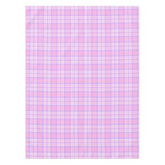 ピンクの紫色のラベンダーの格子縞のギンガムの春イースター テーブルクロス