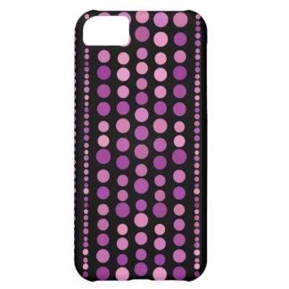 ピンクの紫色の水玉模様 iPhone5Cケース