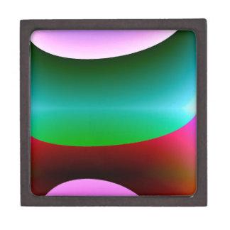 ピンクの紫色の緑の抽象芸術 ギフトボックス