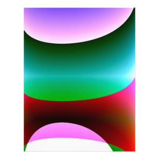 ピンクの紫色の緑の抽象芸術 レターヘッド