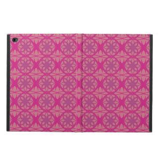 ピンクの紫色の花柄 POWIS iPad AIR 2 ケース