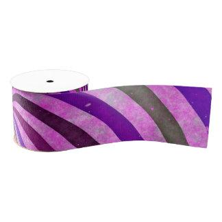 ピンクの紫色はパターン渦巻きます グログランリボン