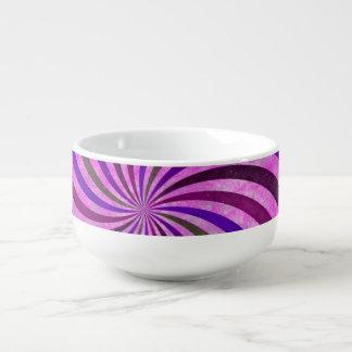 ピンクの紫色はパターン渦巻きます スープマグ