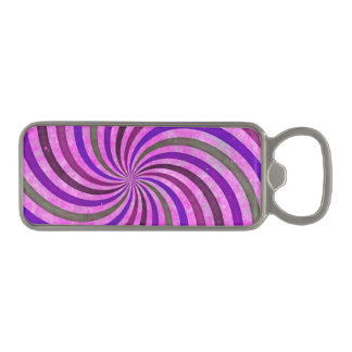 ピンクの紫色はパターン渦巻きます マグネット栓抜き