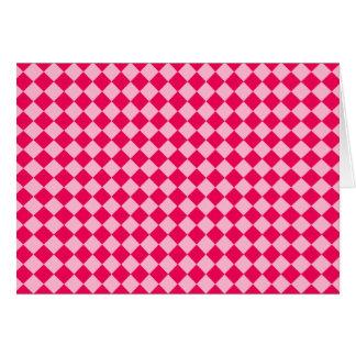 ピンクの組合せのダイヤモンドパターン カード