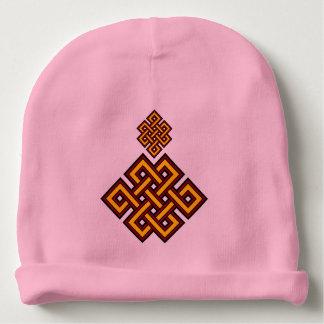ピンクの結び目のベビーの綿の帽子 ベビービーニー