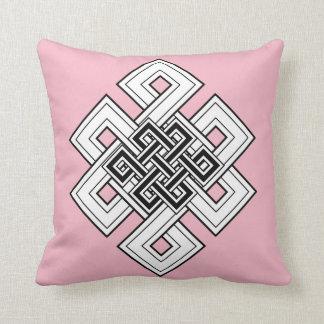 ピンクの結び目の装飾用クッション クッション