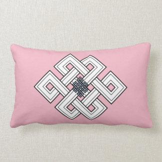 ピンクの結び目のLumbarの枕 ランバークッション