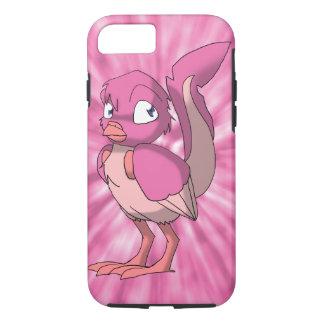 ピンクの絞り染めの背部を持つ果実のヨーグルトのReptilianの鳥 iPhone 7ケース