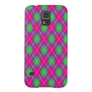 ピンクの緑の紫色のダイヤモンド GALAXY S5 ケース