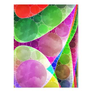 ピンクの緑の紫色の抽象芸術 レターヘッド