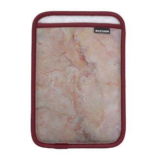 ピンクの線がある大理石の石造りの終わり iPad MINIスリーブ