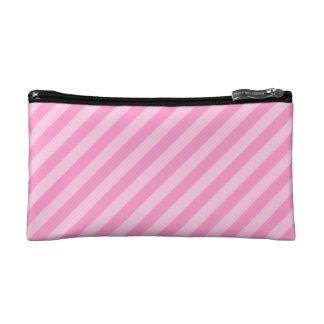 ピンクの縞 コスメティックバッグ