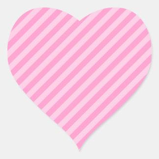 ピンクの縞 ハートシール