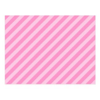 ピンクの縞 ポストカード