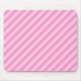 ピンクの縞 マウスパッド