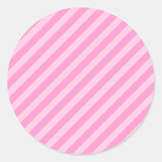 ピンクの縞 ラウンドシール
