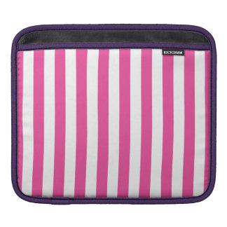 ピンクの縦ストライプ iPadスリーブ