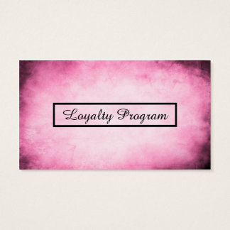 ピンクの羊皮紙のロイヤリティプログラム 名刺
