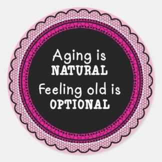 ピンクの老化は自然です ラウンドシール